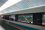 Magnetically levitated (Maglev) train, Shanghai                                                                                                                                                          Stock Photo - Premium Rights-Managed, Artist: Oriental Touch           , Code: 855-02988229