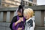 Girls dressed up at Harajuku, Tokyo, Japan                                                                                                                                                               Stock Photo - Premium Rights-Managed, Artist: Oriental Touch           , Code: 855-02989435