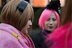 Girls dressed up at Harajuku, Tokyo, Japan                                                                                                                                                               Stock Photo - Premium Rights-Managed, Artist: Oriental Touch           , Code: 855-02989437