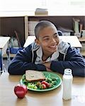 Student Eating Lunch Stock Photo - Premium Rights-Managed, Artist: Horst Herget             , Code: 700-02989961