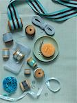 Still Life of Sewing Items Stock Photo - Premium Rights-Managed, Artist: Natasha Nicholson        , Code: 700-02989993