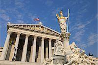 Pallas Athene Fountain and Parliament Building, Vienna, Austria Stock Photo - Premium Rights-Managednull, Code: 700-02990017