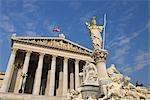 Pallas Athene Fountain and Parliament Building, Vienna, Austria