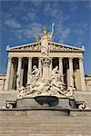 Pallas Athene Fountain and Parliament Building, Vienna, Austria