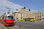Streetcar and Sightseeing Buses by the Vienna State Opera, Vienna, Austria Stock Photo - Premium Rights-Managed, Artist: Raimund Linke            , Code: 700-02990029