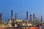 Oil Refinery in Schwechat, Vienna, Austria