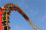 Roller-coaster, Prater, Vienna, Austria Stock Photo - Premium Rights-Managed, Artist: Raimund Linke            , Code: 700-02990048