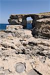 The Azure Window at Dwejra Point, Gozo, Malta, Europe                                                                                                                                                    Stock Photo - Premium Rights-Managed, Artist: Robert Harding Images, Code: 841-02991119