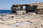 The Azure Window at Dwejra Point, Gozo, Malta, Europe                                                                                                                                                    Stock Photo - Premium Rights-Managed, Artist: Robert Harding Images, Code: 841-02991120