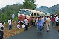 Bus accident near Munnar, Western Ghats, Kerala state, India, Asia                                                                                                                                       Stock Photo - Premium Rights-Managednull, Code: 841-02991516