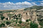 Erosion with volcanic tuff pillars near Goreme, Cappadocia, Anatolia, Turkey, Asia Minor, Asia                                                                                                           Stock Photo - Premium Rights-Managed, Artist: Robert Harding Images, Code: 841-02992051
