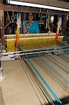 A woman weaving at one of the cooperatives in an area that is famous for its saris, Maheshwar, Madhya Pradesh state, India, Asia                                                                         Stock Photo - Premium Rights-Managed, Artist: Robert Harding Images, Code: 841-02992327