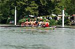 Rowing at the Henley Royal Regatta, Henley on Thames, England, United Kingdom, Europe                                                                                                                    Stock Photo - Premium Rights-Managed, Artist: Robert Harding Images, Code: 841-02992772