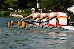 Rowing at the Henley Royal Regatta, Henley on Thames, England, United Kingdom, Europe                                                                                                                    Stock Photo - Premium Rights-Managed, Artist: Robert Harding Images, Code: 841-02992775