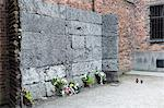 The wall between blocks 10 and 11 where thousands of prisoners were executed by firing squad, Auschwitz concentration camp, UNESCO World Heritage Site, Oswiecim, near Krakow (Cracow), Poland, Europe   Stock Photo - Premium Rights-Managed, Artist: Robert Harding Images, Code: 841-02992870