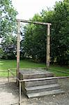 Gallows where Rudolf Hoss, the camp commandant, was hanged, Auschwitz concentration camp, UNESCO World Heritage Site, Oswiecim, near Krakow (Cracow), Poland, Europe                                     Stock Photo - Premium Rights-Managed, Artist: Robert Harding Images, Code: 841-02992883