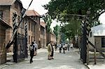 Entry gate with sign Arbeit Macht Frei (work makes you free), Auschwitz Concentration Camp, UNESCO World Heritage Site, Oswiecim, near Krakow (Cracow), Poland, Europe                                   Stock Photo - Premium Rights-Managed, Artist: Robert Harding Images, Code: 841-02992887