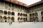 The Royal Palace, Royal Castle area, Krakow (Cracow), UNESCO World Heritage Site, Poland, Europe                                                                                                         Stock Photo - Premium Rights-Managed, Artist: Robert Harding Images, Code: 841-02992913