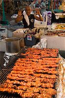 food stalls - Goombay Festival in Bahama Village, Petronia Street, Key West, Florida, United States of America, North America                                                                                          Stock Photo - Premium Rights-Managednull, Code: 841-02993107