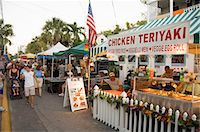 food stalls - Goombay Festival in Bahama Village, Petronia Street, Key West, Florida, United States of America, North America                                                                                          Stock Photo - Premium Rights-Managednull, Code: 841-02993108