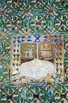 Azulejos tiles in the Mudejar style, Casa de Pilatos, Santa Cruz district, Seville, Andalusia, Spain, Europe                                                                                             Stock Photo - Premium Rights-Managed, Artist: Robert Harding Images, Code: 841-02994087