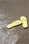 Flip Flops on Beach, Hulsig, Skagen, Nordjylland, Jutland Peninsula, Denmark