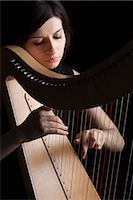 Woman Playing Harp, Rome, Italy Stock Photo - Premium Rights-Managednull, Code: 700-03003709