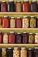 Jars of Preserves on a Shelf Stock Photo - Premium Rights-Managednull, Code: 700-03003906