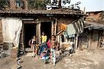 Children Outside their Home, Tilijara, Kolkata, West Bengal, India Stock Photo - Premium Rights-Managed, Artist: Sarah Murray             , Code: 700-03004180