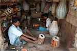People Making Drums, Namkhana Village, South 24 Parganas District, West Bengal, India Stock Photo - Premium Rights-Managed, Artist: Sarah Murray             , Code: 700-03004200