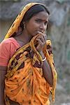 Portrait of Woman, Namkhara Village, South 24 Parganas District, West Bengal, India Stock Photo - Premium Rights-Managed, Artist: Sarah Murray             , Code: 700-03004204