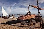 Sailboats and Fishing Boats on the Beach, Fortaleza, Ceara, Brazil Stock Photo - Premium Rights-Managed, Artist: George Simhoni           , Code: 700-03004284
