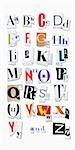 Letters of the Alphabet Cut Out of Magazine Pages Stock Photo - Premium Royalty-Free, Artist: Andrew Kolb              , Code: 600-03005055