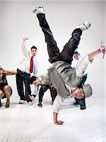 Breakdancers                                                                                                                                                                                             Stock Photo - Premium Rights-Managednull, Code: 700-03005062