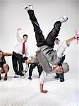 Breakdancers                                                                                                                                                                                             Stock Photo - Premium Rights-Managed, Artist: Brian Kuhlmann           , Code: 700-03005062