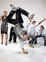 Breakdancers                                                                                                                                                                                             Stock Photo - Premium Rights-Managednull, Code: 700-03005063