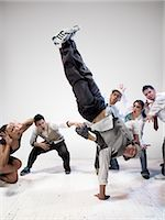 Breakdancers                                                                                                                                                                                             Stock Photo - Premium Rights-Managednull, Code: 700-03005065