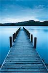 Pier, Windermere Lake, Cumbria, England, United Kingdom                                                                                                                                                  Stock Photo - Premium Rights-Managed, Artist: JW                       , Code: 700-03005166