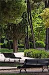 Benches in Park, Zaragoza, Aragon, Spain Stock Photo - Premium Royalty-Free, Artist: Mike Randolph            , Code: 600-03015057