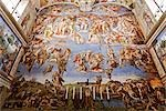 The Last Judgement, Sistine Chapel, Vatican Museum, Vatican City, Rome, Italy