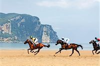 Horse Racing on the Beach, Laredo, Cantabria, Spain Stock Photo - Premium Rights-Managednull, Code: 700-03015190