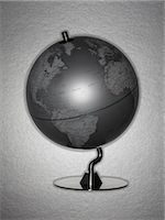 Retro globe Stock Photo - Premium Royalty-Freenull, Code: 635-03015643