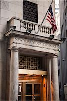 stock exchange building - Wall Street, New York City, New York, USA Stock Photo - Premium Rights-Managednull, Code: 700-03017150