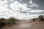 Entrance to Indio Ranch Cemetery, Presidio, Presidio County, West Texas, Texas, USA Stock Photo - Premium Rights-Managed, Artist: Mark Peter Drolet        , Code: 700-03017497