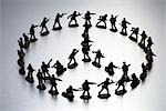 Toy Soldiers in the Shape of a Peace sign Stock Photo - Premium Rights-Managed, Artist: Peter Reali              , Code: 700-03017738