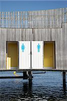 Changing Rooms at the Beach, Copenhagen, North Sealand, Denmark Stock Photo - Premium Rights-Managednull, Code: 700-03017821