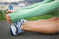 Woman Stretching, Seattle, Washington, USA Stock Photo - Premium Royalty-Freenull, Code: 600-03017918