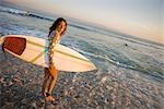 Woman with Surf Board, Punta del Burro, Nayarit, Mexico Stock Photo - Premium Rights-Managed, Artist: Ty Milford               , Code: 700-03017971