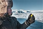 Man Looking at GPS, Vatnajokull Glacier, Austur-Skaftafellssysla, Iceland Stock Photo - Premium Rights-Managed, Artist: Atli Mar Hafsteinsson    , Code: 700-03017983