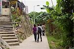 People walking at Lamma Island,Hong Kong                                                                                                                                                                 Stock Photo - Premium Rights-Managed, Artist: Oriental Touch           , Code: 855-03021876